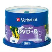 DVD+R VERBATIM 4.7GB 16X BLANCO INK PRINTABLE C/50