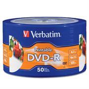 DVD-R VERBATIM 4.7GB 16X BLANCO SPINDLE C/50