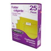 Folder Acco Colgante Carta Color Amarillo c/25 Piezas