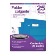 Folder Acco Colgante Carta Color Azul c/25 Piezas