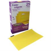 Folder Acco Colgante Oficio Color Amarillo c/25 Piezas