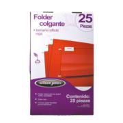 Folder Acco Colgante Oficio Color Rojo c/25 Piezas