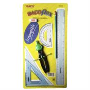 Juego Geometría Baco BacoFlex E-5350 (5050) con Compás Precision C-600