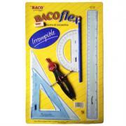 Juego Geometría Baco BacoFlex E-5370 (5070) con Compás Precision C-600