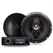 Kit Bocinas y Autoestereo Vorago CAR-300-S USB/AUX/Radio AM-FM/Bluetooth Bocinas 6.5'