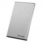 Enclosure Gabinete Vorago HDD-102 para SSD/HDD 2.5' SATA USB 2.0 Color Plata