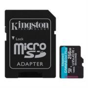 Memoria Kingston Micro SDXC Canvas Go Plus 256GB UHS-I U3 V30 A2 Clase 10 C/Adaptador