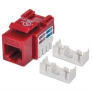 Jack Intellinet RJ45/Cat6 Keystone de Impacto UTP Color Rojo